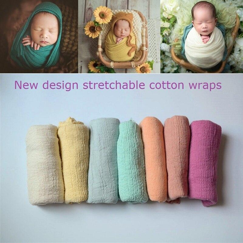Neugeborenen Fotografie Requisiten Wrap Baby Decke Weiche Dehnbare Baumwolle Swaddling Fotografie Kulisse Babys Zubehör
