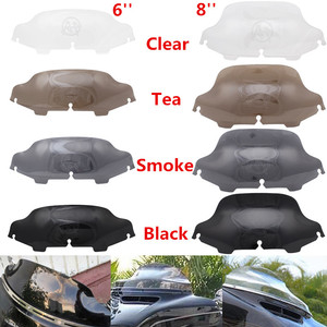 """Motorcycle 6''/8"""" Black/Smoke /Clear Windshield Fairing Windscreen For Harley Electra Street Glide FLHX Touring 1996-2013(China)"""