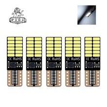 Bombilla de señalización LED Canbus t10 para coche, luz trasera, Bombilla lateral, cuña, luz superior de estacionamiento, 5 uds.