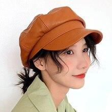 Octagonal Hat Women Beret-Hat Painter Autumn Solid Female Casual New