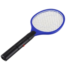 Batteries Operated Hand Racket Electric Mosquito Swatter Insect Home Garden Pest Bug Fly Mosquito Swatter Killer