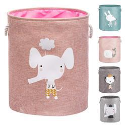 Large Folding Laundry Basket With Lid Toy Storage Baskets Bin For Kids Dog Toys Clothes Organizer Cute Animal Laundry bucket