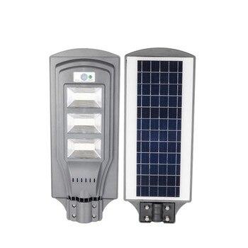 1pc 50W 100W 150W Solar Powered Led Street Light PIR Radar Motion+Light Control Outdoor Waterproof Security Lamp for Garden