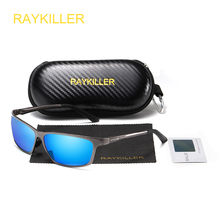 RAYKILLER Aluminum Magnesium Polarized Sunglasses Men Aviation High Definition Driving Sun Glasses Male Sport Shades