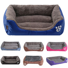 S-3XL Puppy Dog Bed Cushion Sofa Pet Beds For Dogs Waterproof Bottom Soft Warm Cat Bed