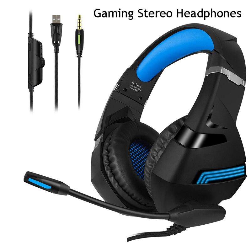 A2 casque de jeu stéréo 7.1 Surround virtuel basse jeu écouteur casque avec micro lumière LED pour ordinateur PC Gamer