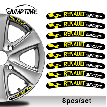 Jump Time 13cm x 1.3cm 8Pcs For Renault Sport Rim Stickers Wheel Stripes Set Emblem Car Auto Tuning Motorcycle Tuning Bike Decal 1