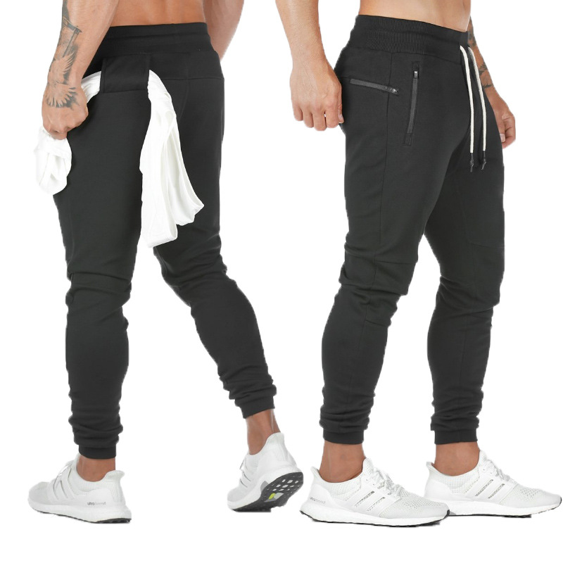 Men's Casual Sweatpants Solid High Street Track Trousers Men Joggers Fitness Brand Multifunctional Breathable Men's Pants Sports