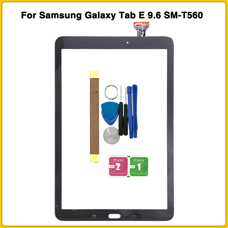New T560 Touch Screen For Samsung Galaxy Tab E 9.6 SM-T560 SM-T561 T561 T560 Touch Panel Digitizer Sensor Lcd Screen Front Glass