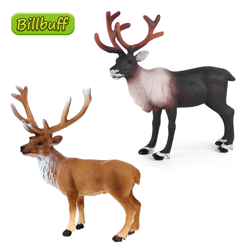 Modelo de simulación nueva de ciervo de alce de 12cm, colección de figuras de acción en miniatura, juguetes educativos de cognición para regalo de niños