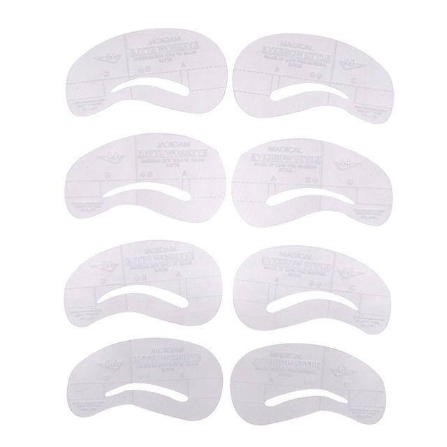 8pcs Stylish DIY Beauty Eyebrow Template Stencils Makeup Tools Accessories Grooming Stencil For Eyebrow Kit Eyebrow Shaping 5