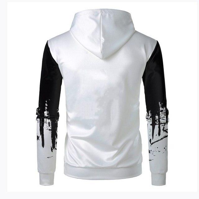 3D Printed Ink Sweatshirt Casual Hooded Pullover 2