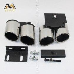 Akcesoria samochodowa okrągła podwójna rura wydechowa ze stali nierdzewnej nadaje się do audi A3 ulepszona rura wydechowa tłumika S3
