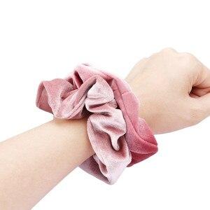 Бархат, обтянутая тканью; Ободок для волос; Для женщин и девочек эластичные резинки для волос аксессуары для волос лента для волос резинка для волос галстук веревка тканью; Прическа хвостик; В наличии