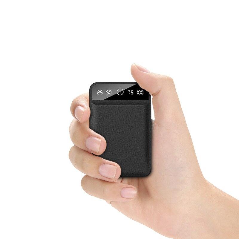 10000mAh Power Bank Portable Mobile Charging Mini PowerBank USB External Battery Pack For Xiaomi iPhone Mobile
