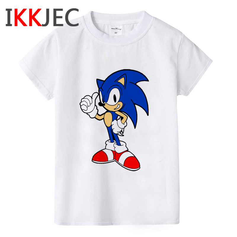 Sonic The Hedgehog Funny Cartoon T Shirt Kids Boys Girls Kawaii Sonic T-shirt Cute Anime Tshirt Graphic Fashion Top Tee Children