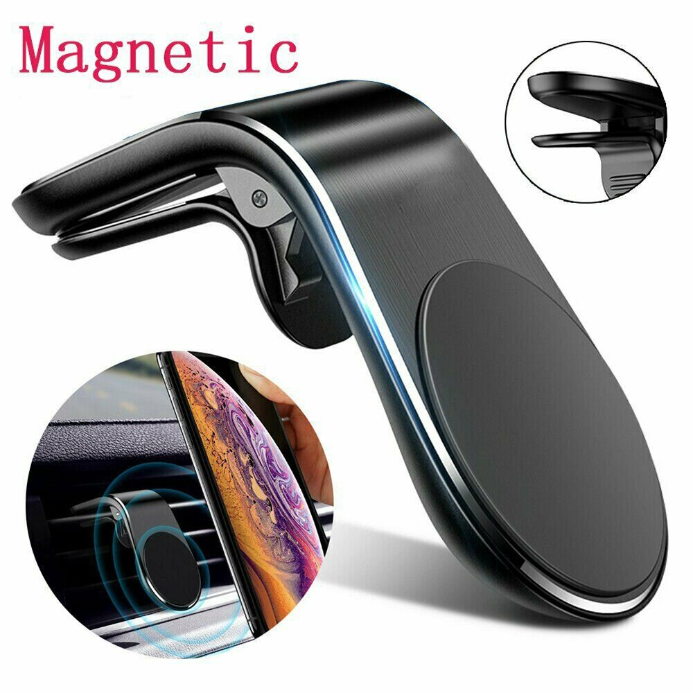 Cohai Metal Magnetic Car Phone Holder Mini Air Vent Clip Mount Magnet Mobile Stand For IPhone Xiaomi Smartphones In Car