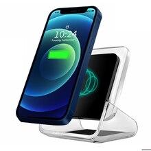 Вертикальный мобильный телефон держатель Беспроводной Зарядное устройство 10 Вт быстрой зарядки с украшением в виде кристаллов светодиодн...