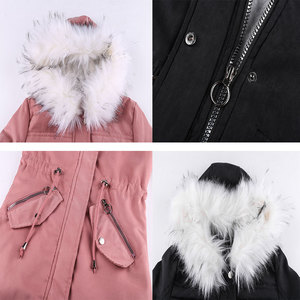 Image 5 - Women Jacket Long Overcoats Winter Warm Thick Female Casual Military Fur Tops Jackets Coats  Dropshipping