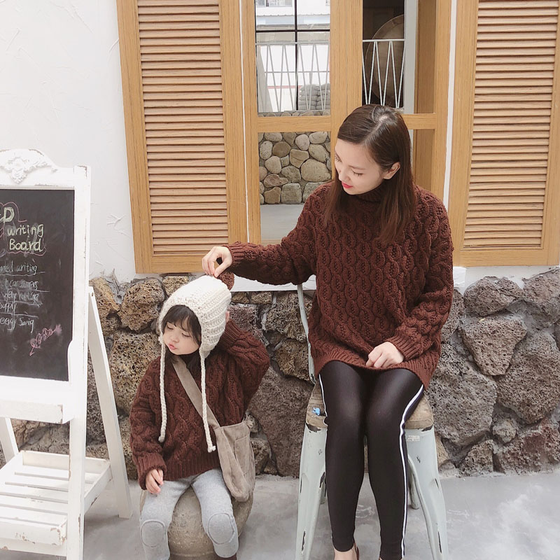 MILANCEL Family Matching Clothes Mother And Daughter Clothes Fashion Girls Sweaters Family Matching Sweaters