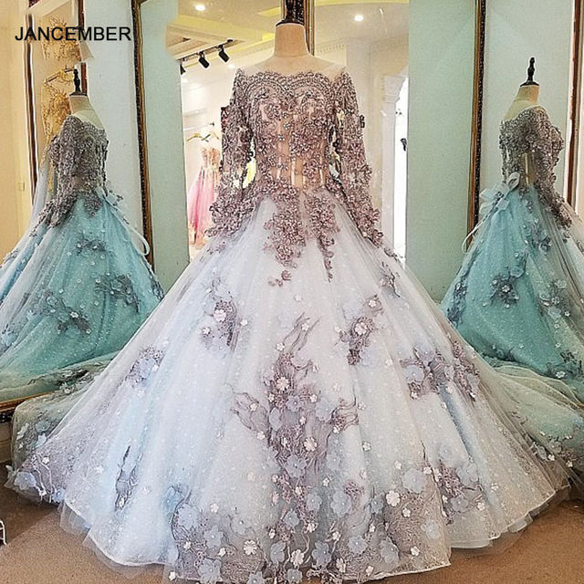 LS00034 evening dress lace beading ball gown long party formal dress organza robe de soiree abendkleider 2018 real photos