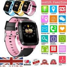 GPS tracker KIDS Smart Watch Phone Flashlight SOS Call Alarm