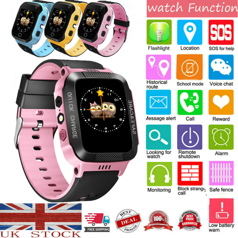Tracker KIDS Smart Watch Phone Flashlight SOS Call Alarm Step counter Camera USB2.0 For Kids Child SIM card 2G 3G