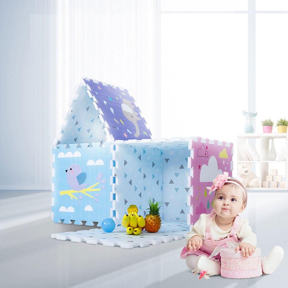 6 pièces/ensemble couture bébé tapis EPE mousse enfant jouer tapis de sol mousse imperméable salon tapis insipide tapis d'escalade tapis de jeu