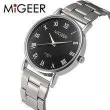 New MIGEER Luxury Designer Men's Watch Stainless Steel Quartz Watch