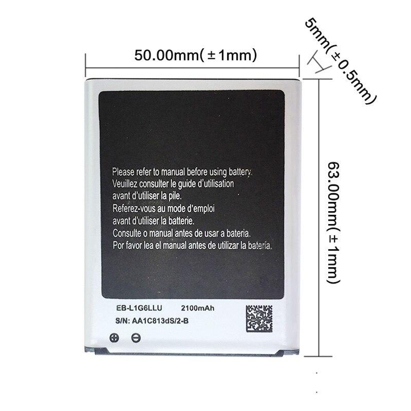 EB-L1G6LLU EB L1G6LLU Аккумулятор для телефона 2100 мАч для Samsung Galaxy S3 i9300 i9305 i747 i535 L710 T999 сменные батареи