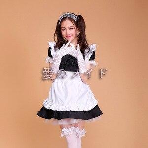 Image 3 - Cafe Restaurant Maid Wear Waiter Professional Uniform Short Skirt Anime Servant Cosplay Costume Sweet lolita Clothes
