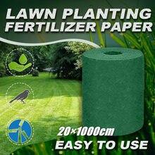 20 × 1000cm grama semente esteira starter esteira jardinagem grama semente tapete semente starter esteira jardim suprimentos gramado grama sementes almofadas