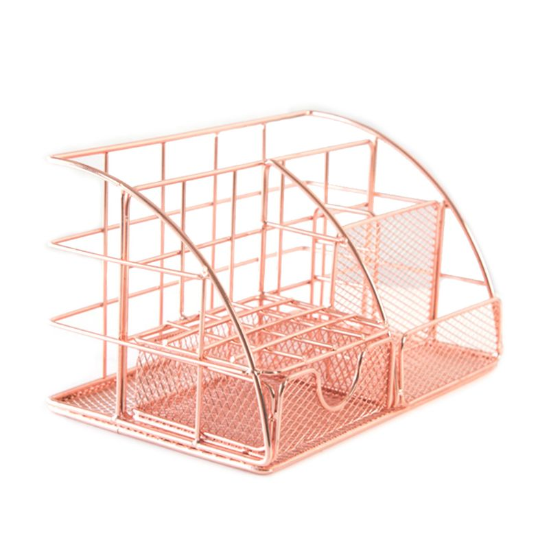 Multi-function Desk Organizer All In One Desktop With Pen Paper Holder School Office Stationery Storage Rack Supplies