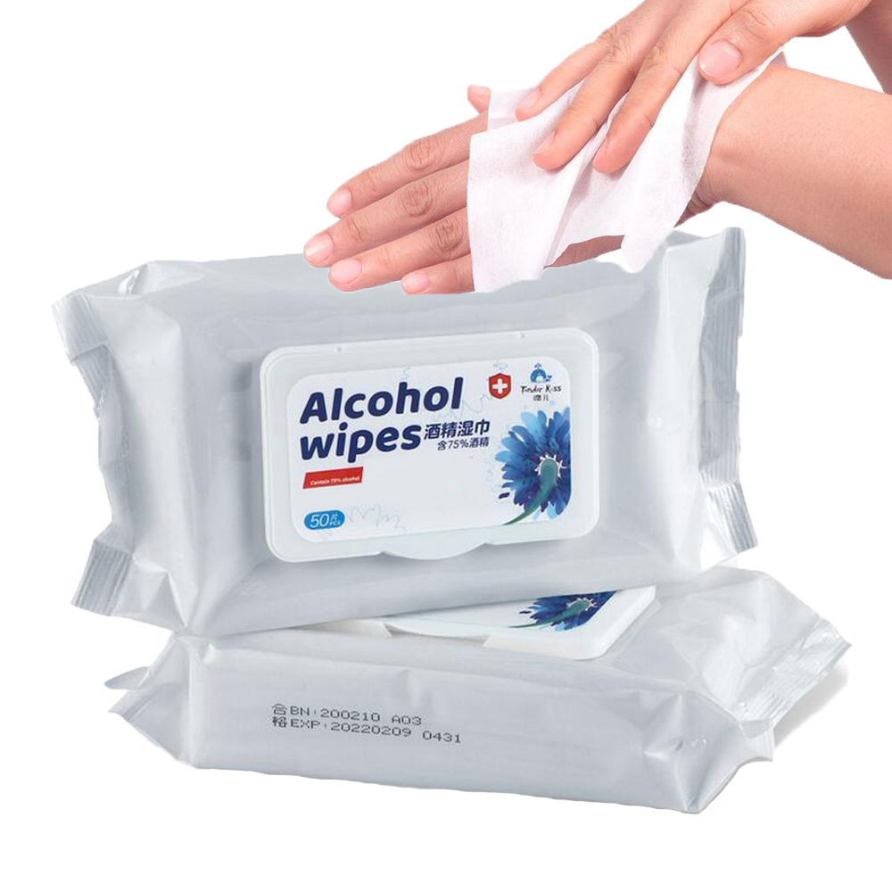 New 50PCS Disposable Alcohol Wipes Sterilization Portable Wipes Antibacterial Cleaning Skin Cleaning Care Alcohol Wet Wipes