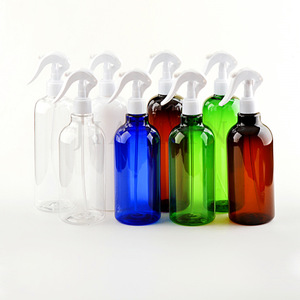 Image 2 - Rastgele 500ML Amber PET sprey boş şişeler tetik püskürtücü uçucu yağlar aromaterapi parfüm doldurulabilir şişe seyahat için