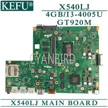 цена на KEFU original mainboard for ASUS X540LJ with 4GB-RAM I3-4005U GT920M Laptop motherboard