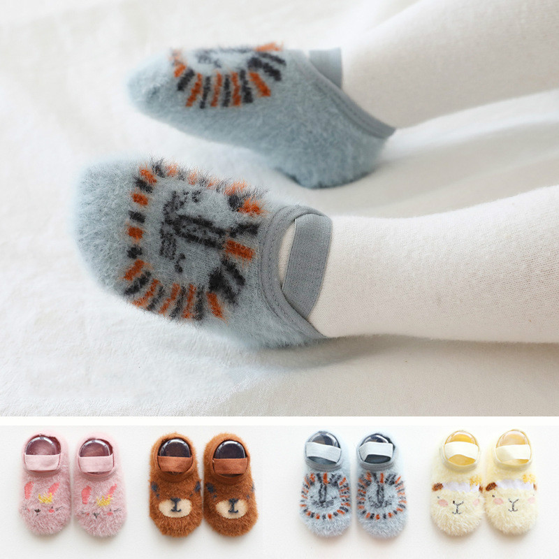 Autumn And Winter Baby Socks Newborn Non-slip Baby Socks With Bandage Boy Girls Floor Socks Learn Walk Anti Slip Warm Baby Socks