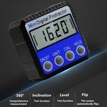 360 graus mini digital inclinômetro nível eletrônico transferidor ângulo régua medidor de medição localizador com ímã 2 estilo