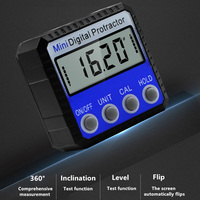 360 graus mini digital inclinômetro nível eletrônico transferidor ângulo régua medidor de medição localizador com ímã 2 estilo|Transferidores| |  -