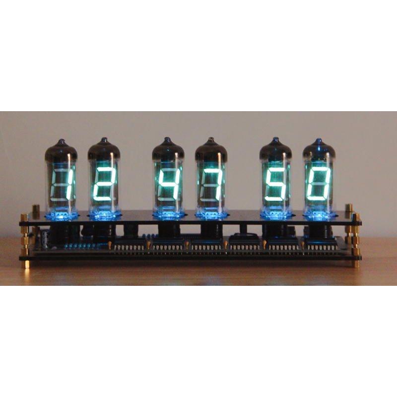 Creative glass Gift IV11 Fluorescent Tube Clock VFD DIY Kit Boyfriend Gift Analog glow tube iv-11 1
