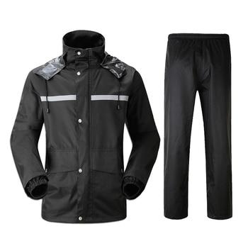 Chaqueta impermeable de moto para mujer, abrigo de lluvia a la moda para bicicleta de viaje, chaqueta impermeable para hombre, ropa de lluvia negra para mujer EA60YY