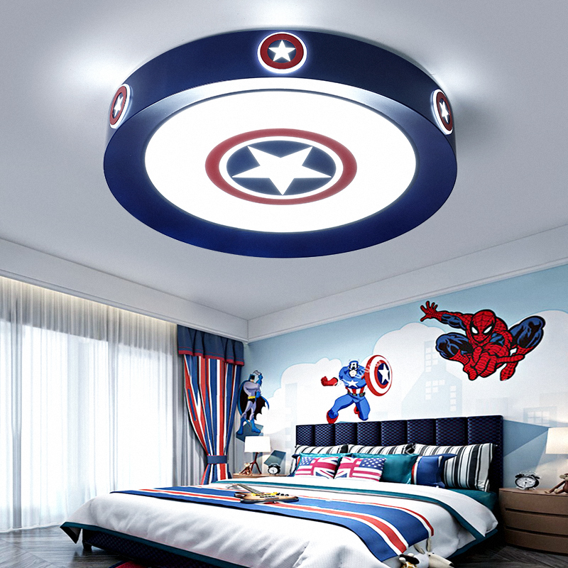 Captain America Modern Boy Children Bedroom Decor Ultra Thin Led Lamp Lights For Room Dimmable Ceiling Light Home Decoration Special Promo Ca17c Cicig