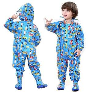 Image 5 - Çocuklar kapşonlu yağmurluk çocuk açık yağmur tulum geçirimsiz pembe yağmurluk kapak bebek erkek kız sevimli panço mavi yağmurluk