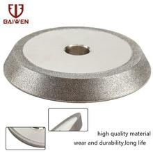78mm Diamond Grinding Wheel Circle Sharpener Disc Dish Grinder for Carbide Metal Tungsten Steel Milling Cutter Tool 1/2'' Bore