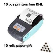 10 pces livre ups dhl impressora térmica bluetooth recibo e-boleta bill impressora pdf sem fio 58mm mini android ios windows usb