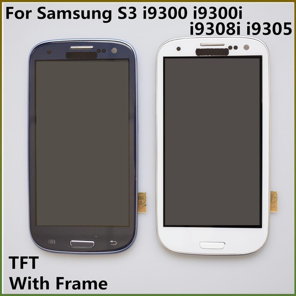 4,8 ''S3 TFT LCD pantalla táctil digitalizador montaje con marco de carga para Samsung Galaxy S3 i9300 i9300i i9308i i9305