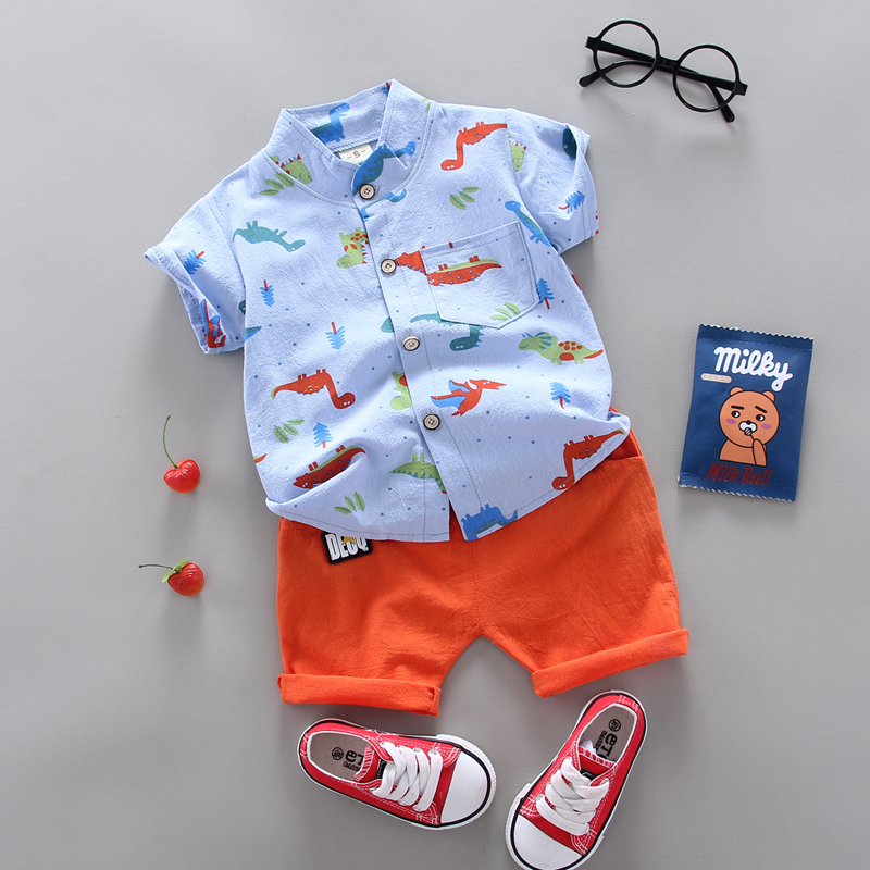 summer Children's suit  Clothes Sets Boys and girls Short sleeve shirt and Pants 2 pieces Clothing sets children's clothing Baby 2
