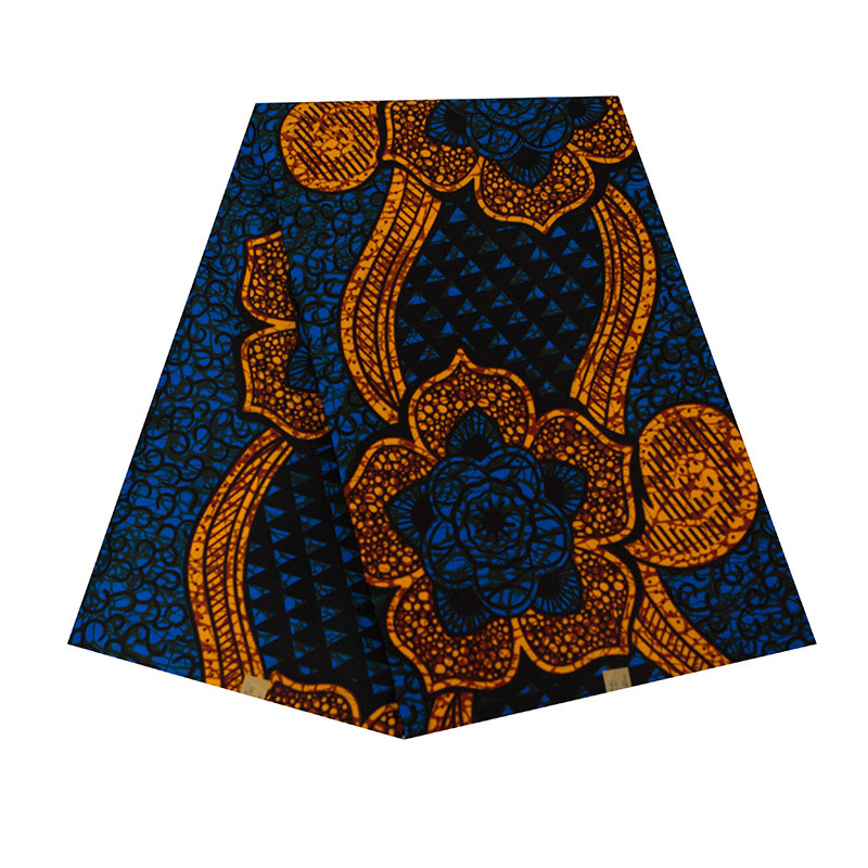 High Quality Ankara African Wax Print Fabric Wholesale 6 Yards 100% Polyester African Ankara Wax Fabric Printed For Spring