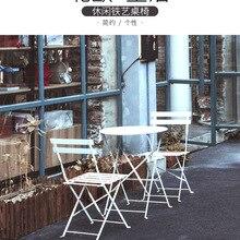 Table-Combination Furniture Restaurant Bar Nordic Square Milk Tea-Shop Folding Leisure