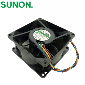 For SUNON H814N-A00 MF80381V1-D000-M99 DC 12V 6.1W 4-wire 4-pin connector 80mm 80x80x38mm Server Square Cooling fan emacro for sf6023lhh12 57p server projector fan dc 12v 250ma 60x60x23mm 4 wire